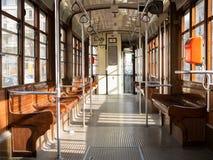 Empty Tram Royalty Free Stock Photography