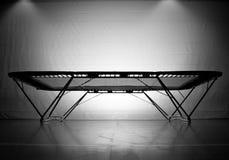 Empty trampoline Stock Image