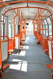 Empty tramway. Image of the inside of an empty tramway Stock Image
