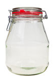 Empty, transparent glass jar. Royalty Free Stock Photography