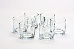 Empty transparent  mugs Stock Photography