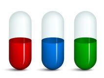 Empty transparent pills Stock Photography