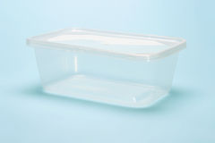 Empty transparent plastic container Stock Photography