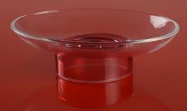 Empty transparent plastic soap-dish Royalty Free Stock Photo