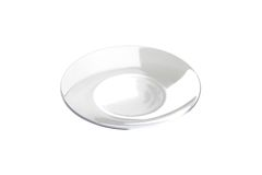 Empty transparent plate Royalty Free Stock Image