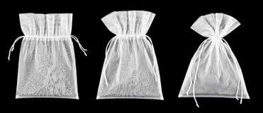 empty transparent textile bags Stock Photos