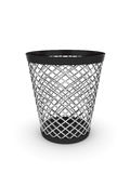 Empty trash bin. 3d illustration of empty trash bin. Isolated on white background Stock Photography