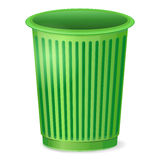 Empty trash bin Stock Photo