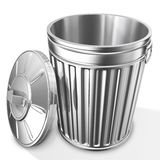 Empty trash can Stock Image