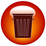 Empty trash can icon. Empty trash can button or icon - vector Stock Photography