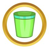 Empty trash can vector icon Stock Photo