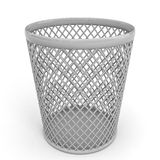 Empty trash can. Royalty Free Stock Photography
