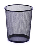 Empty trash, clean garbage bin, metal basket bin for waste paper Royalty Free Stock Image