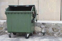 Empty trash dumpster Royalty Free Stock Images