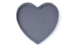 Empty tray in the form of heart, isolated Stock Photos