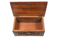 Empty treasure chest. An empty  open treasure chest Royalty Free Stock Photography