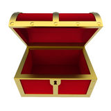 Empty Treasure Chest Isolated Royalty Free Stock Photography