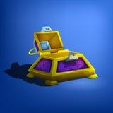 Empty treasure chest. Stock Photo