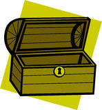 empty treasure chest vector illustration Stock Image