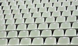Empty tribune. Many empty chairs in a desert tribune Stock Image