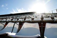 Empty tribune. An empty tribune in Buenos aires. HDRI photo Stock Photography