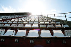 Empty tribune. Am empty tribune in Buenos aires. HDRI photo Royalty Free Stock Images