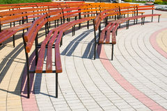 Empty tribune. In the city center Royalty Free Stock Photos