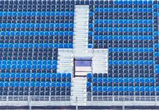 Empty tribune of the soccer stadium. Stock Images