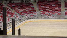 Empty tribune. In the Sports Palace stock video