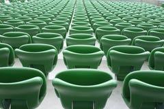 Empty tribune of stadium. Empty tribune in legia stadium Stock Photography