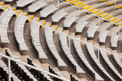 Empty tribunes of  large stadium Stock Photography