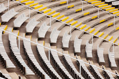 Empty tribunes of  large stadium Royalty Free Stock Photos