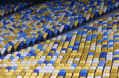 Empty tribunes of NSC Olimpiyskyi stadium Stock Images