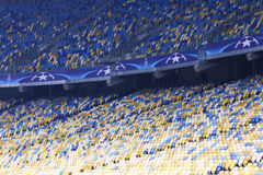 Empty tribunes of NSC Olimpiyskyi stadium Royalty Free Stock Photography