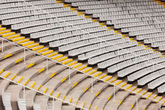 Empty tribunes of  stadium Royalty Free Stock Images