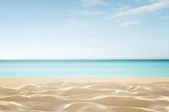 Empty tropical beach stock image