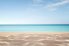 Empty tropical beach royalty free stock photography