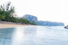 Empty Tropical Beach Seaside View Sea Vacation Destination Ocean Royalty Free Stock Photo