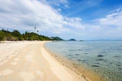 Empty tropical beach. In Thailand Stock Photos