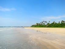 Empty tropical beach, Weligama, Sri Lanka Stock Photos