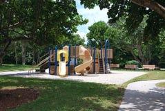 An Empty Tropical playground Stock Photos