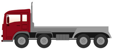 Empty truck with red cabin Royalty Free Stock Images