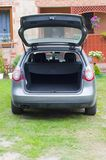Empty trunk of the car Stock Image