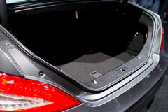 Empty trunk of the car Stock Photos