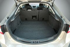 Car trunk. Empty trunk of the large passenger car Stock Images