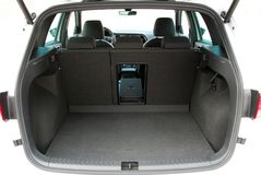 Empty trunk of the suv Royalty Free Stock Photo