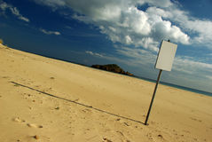 Empty Trust (erased by wind). At Chia Beach (Sardinia - Italy royalty free stock image