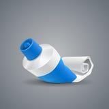 Almost empty tube toothpaste Stock Image