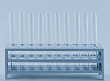 Empty tubes. Empty laboratory tubes in a support Royalty Free Stock Photos