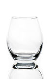 empty tulip shaped whisky or cognac glass Stock Photos